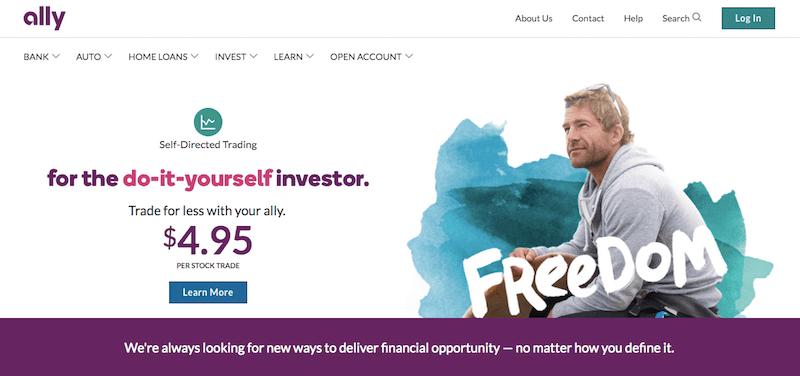 Ally Bank Main Page