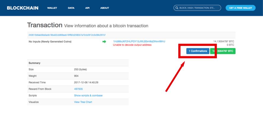 Blockchain info interface