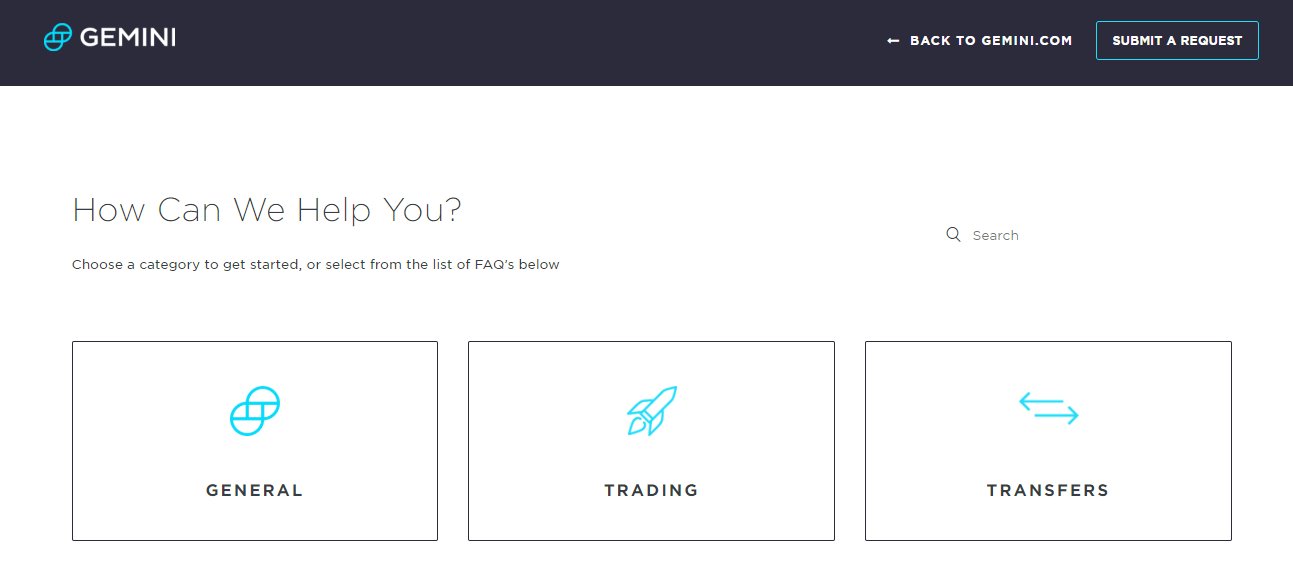Gemini Customer Support