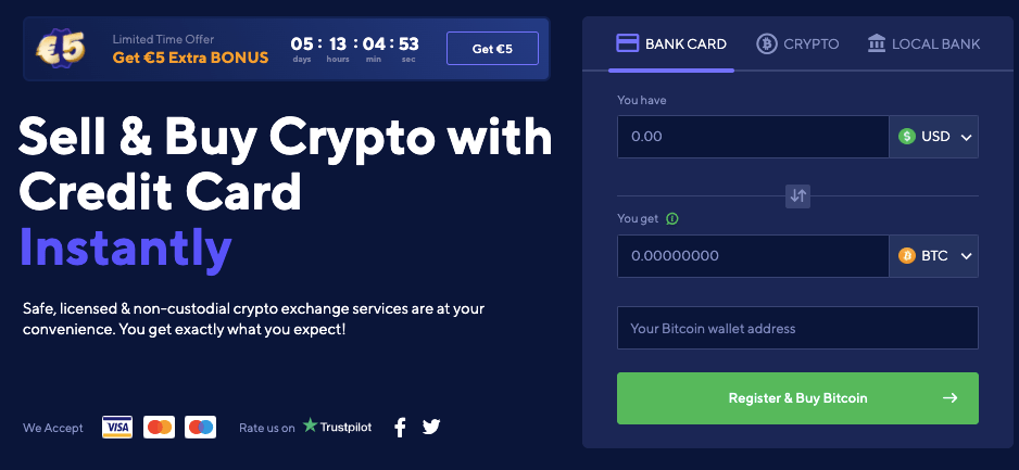 Switchere homepage