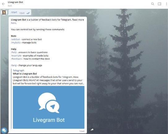 @LivegramBot